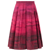 Buy Jigsaw Dip Dye Midi Skirt, Pink Online at johnlewis.com