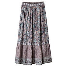 Buy East Arya Tiered Maxi Skirt, Smoke Online at johnlewis.com