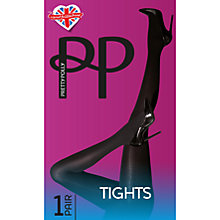 Buy Pretty Polly Twisted Rope Tights, Black Online at johnlewis.com