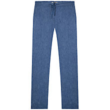 Buy Gerard Darel Linen Australia Trousers, Blue Online at johnlewis.com