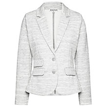 Buy Whistles Double Faced Jacket, Melange Grey Online at johnlewis.com