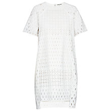 Buy Whistles Patchwork Broderie Dress, White Online at johnlewis.com