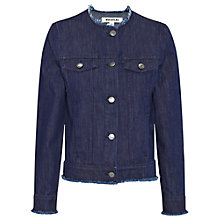 Buy Whistles Frayed Edge Jacket, Denim Online at johnlewis.com