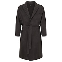 Buy BOSS Pure Cotton Herringbone Robe, Black Online at johnlewis.com