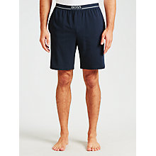 Buy BOSS Jersey Logo Lounge Shorts, Navy Online at johnlewis.com