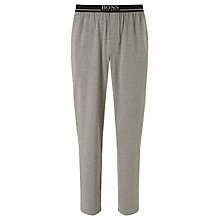 Buy BOSS Jersey Logo Pants, Grey Online at johnlewis.com