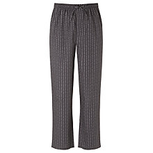 Buy BOSS Woven Cotton Logo Pyjama Bottoms, Grey Online at johnlewis.com