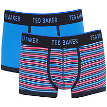 Buy Ted Baker Stripe and Plain Boxers, Pack of 2 Online at johnlewis.com