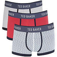 Buy Ted Baker Neb Printed & Plain Trunks, Pack of 3, Multi Online at johnlewis.com