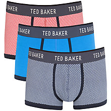 Buy Ted Baker Crogga Spotted & Plain Trunks, Pack of 3, Red/Blue Online at johnlewis.com