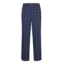 Buy BOSS Woven Cotton Check Pyjama Bottoms, Blue/Grey Online at johnlewis.com