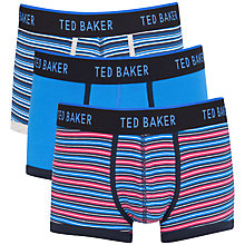 Buy Ted Baker Striped Trunks, Pack of 3, Multi Online at johnlewis.com