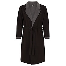 Buy BOSS Shawl Collar Cotton Robe, Black Online at johnlewis.com