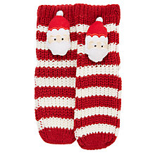 Buy John Lewis Girls' Christmas 3D Santa Slipper Socks, Red/White Online at johnlewis.com