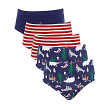 Buy John Lewis Boy's Santa and Friends Christmas Pants, Pack of 5, Multi Online at johnlewis.com