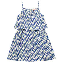 Buy Jigsaw Junior Girls' Fan Print Sun Dress, White Online at johnlewis.com