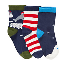 Buy John Lewis Santa and Friends Christmas Socks, Pack of 3 Online at johnlewis.com