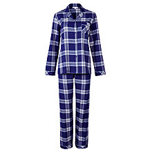 Buy John Lewis Check Pyjama Set, Blue Online at johnlewis.com