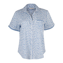 Buy Cyberjammies Danielle Print Pyjama Top, Blue Online at johnlewis.com
