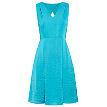 Buy Whistles Adelaide V Neck Dress, Turquoise Online at johnlewis.com