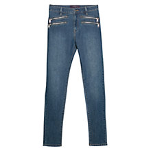 Buy Violeta by Mango Super Slim Vicky Jeans, Open Blue Online at johnlewis.com