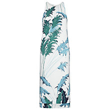 Buy Whistles Pampus Print Dakota Dress, White Multi Online at johnlewis.com