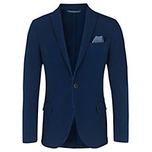 Buy Jigsaw Cotton Pique Slim Fit Blazer, Indigo Online at johnlewis.com
