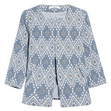 Buy Mango Jacquard Jacket, Blue Online at johnlewis.com