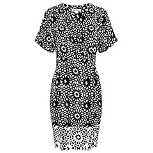 Buy Whistles Louisa Mosaic Dress, Black/White Online at johnlewis.com