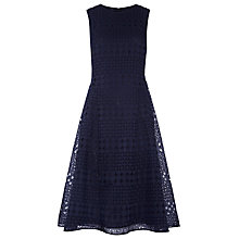 Buy Whistles Eyelet Broderie Dress, Navy Online at johnlewis.com