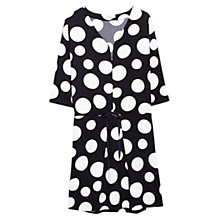 Buy Mango Polka Dot Dress, Navy Online at johnlewis.com