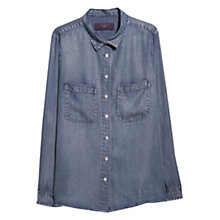 Buy Violeta by Mango Light Denim Shirt, Light Blue Online at johnlewis.com