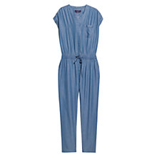 Buy Violeta by Mango Soft Long Jumpsuit, Open Blue Online at johnlewis.com