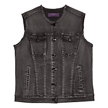 Buy Violeta by Mango Denim Gilet, Black Online at johnlewis.com