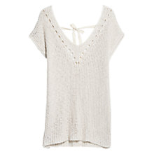 Buy Violeta by Mango Openwork Knit Top, Light Beige Online at johnlewis.com