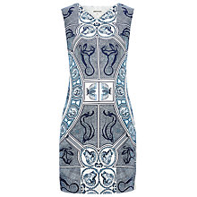 Buy Whistles Medallion Silk Print Dress, Blue / Multi Online at johnlewis.com