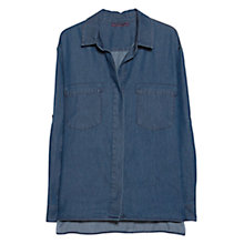 Buy Violeta by Mango Dark Denim Shirt, Dark Blue Online at johnlewis.com