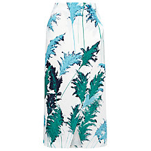 Buy Whistles Pampus Print Wrap Skirt, White Multi Online at johnlewis.com