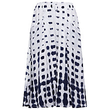 Buy Whistles Button Through Shibori Skirt, White Online at johnlewis.com