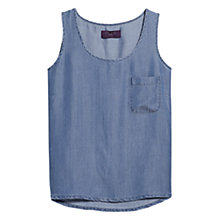 Buy Violeta by Mango Sleeveless Soft Shirt, Open Blue Online at johnlewis.com