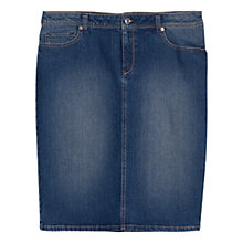 Buy Violeta by Mango Dark Denim Skirt, Dark Blue Online at johnlewis.com
