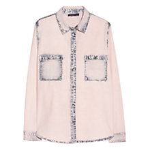 Buy Violeta by Mango Mixed Denim Shirt, Light Pastel Pink Online at johnlewis.com