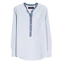 Buy Violeta by Mango Cotton Oxford Shirt, Sky Blue Online at johnlewis.com