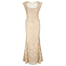 Buy Jacques Vert Lace Bead Dress, Brandied Pears Online at johnlewis.com
