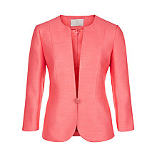 Buy Jacques Vert One Button Jacket, Bright Pink Online at johnlewis.com
