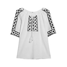 Buy Mango Embroidered Cotton Blouse Online at johnlewis.com