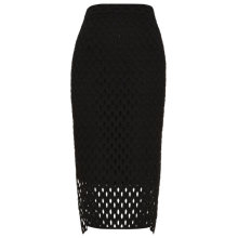 Buy Whistles Lekki Broiderie Pencil Skirt, Black Online at johnlewis.com