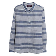 Buy Violeta by Mango Striped Shirt, Open Blue Online at johnlewis.com