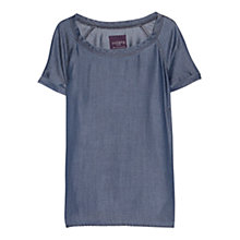 Buy Violeta by Mango Dark Soft Shirt, Dark Blue Online at johnlewis.com