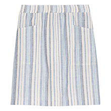 Buy Violeta by Mango Linen Blend Striped Skirt, Light Pastel Blue Online at johnlewis.com